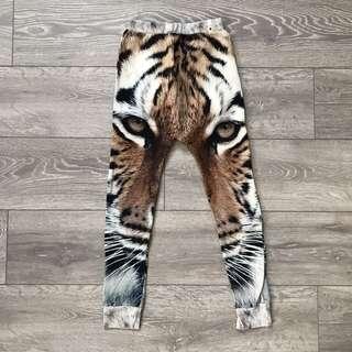 Popupshop Tiger Baggy Leggings Size 7-8y