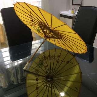 Traditional bamboo wooden umbrella