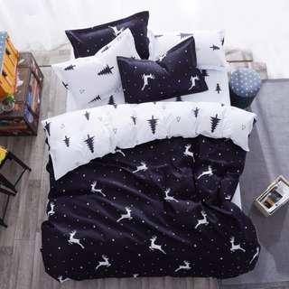 北歐麋鹿款 床包床組 單人/ 雙人/雙人加大 床組三件組/四件組(預購)AB01