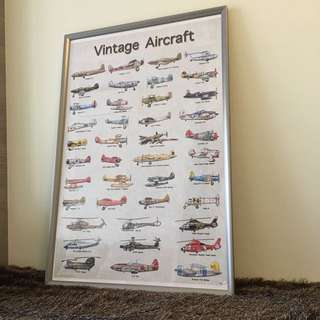 New Stocks Arrived!! Big Poster- Vintage Aeroplane/ Airplanes/ Aircraft