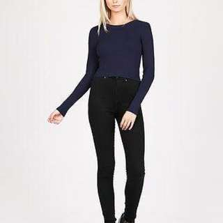 Alice In The Eve Navy Stretch Knit