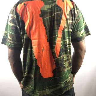 Vlone Printed Camas flash T-shirt