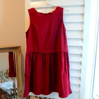 Maroon Smock Dress Princess Highway Size 10
