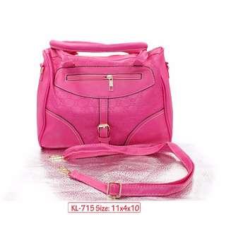 KL-715 Women Shoulder Bag with Adjustable Strap (Pink)
