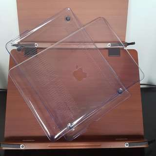 Macbook Pro 13 Clear Hard Cover Case with Apple Logo Cutout