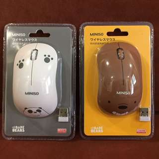 We Bare Bears Wireless Mouse INSTOCK
