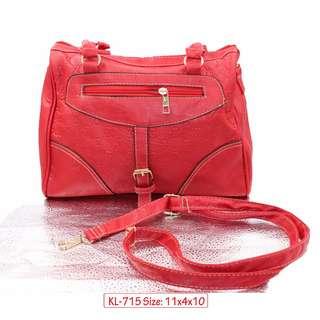 KL-715 Women Shoulder Bag with Adjustable Strap (Red)
