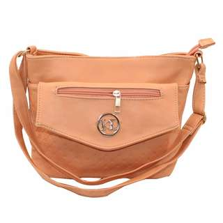 KL–719 Women Body Shoulder Bag (Beige)