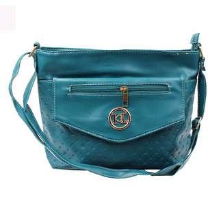 KL–719 Women Body Shoulder Bag (Blue Green)