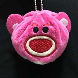 熊抱哥可愛粉紅吊飾