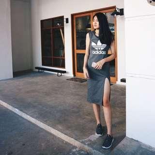 Adidas Bodycon Slit Dress