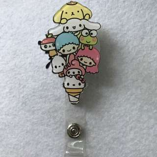 { PROMO } ID Badge Retractable Reel - Sanrio Characters Cone