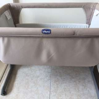 Used Chicco Next 2 Me Bedside Crib (0-9m) - Silver $250 Only