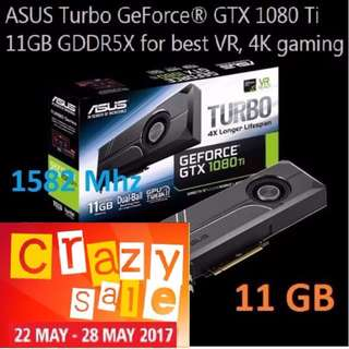 "ASUS GTX 1080TI TURBO 11G GDDR5X.  ""Rebel alliance Crazy Offer Sales Till 28 May 17"" Hurry Grab it Quicker...While Stock Last!!"