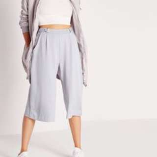 Missguided D Ring Adjustable Waist Grey Culottes
