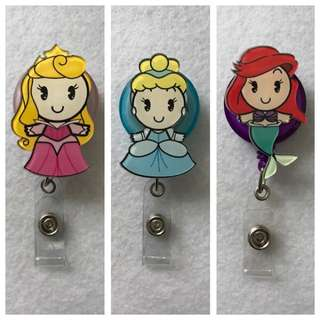 { PROMO } ID Badge Retractable Reel - Q Version Disney Princess