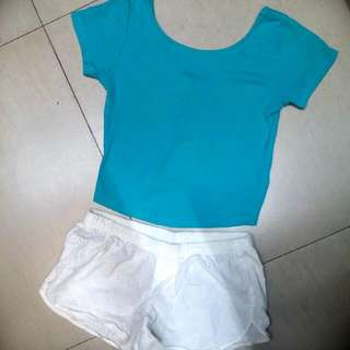 Zara Crop Top & Old Navy Shorts (SET)