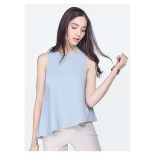 Fayth Avenue Pleated Top (Light Blue) Size M