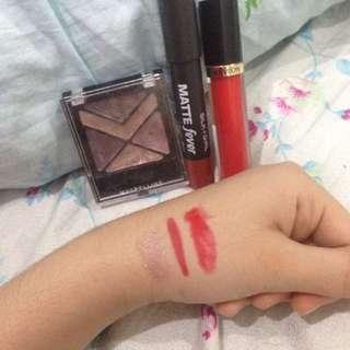ayeshadow maybeline,lipstick silkygirl,lipgloss revlon jual rugi semuanya 50rb!ada bonusnya