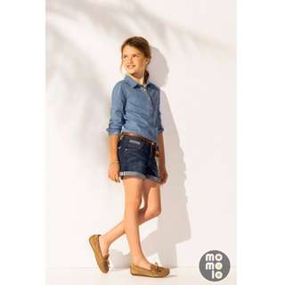 New Massimo Dutto Girls Denim Shirt