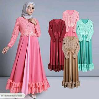 Muhafia Flowery Flare Muslim Dress