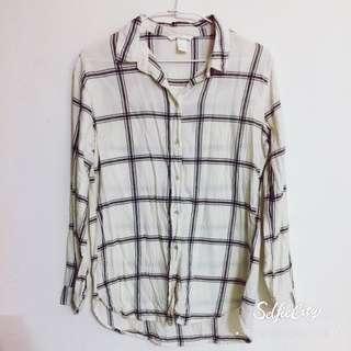 H&M 棉質格紋襯衫