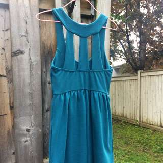 UO Silence + Noise Dress (teal, Small, Has Pockets)
