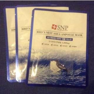 Brand New SNP Bird's Nest Korean Sheet Mask