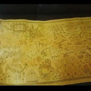 Harry potter 珍藏版地圖海報