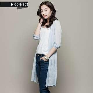 H:CONNECT 韓國 夏季 水藍 罩衫 外套