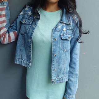 flag jacket jeans