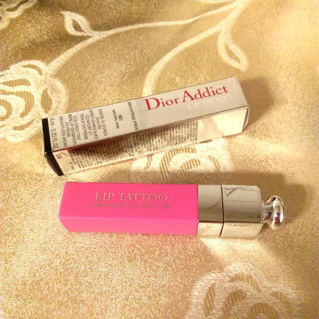 (全新轉賣)#881 Dior Tattoo Lip超模癮誘染唇露#881natural pink