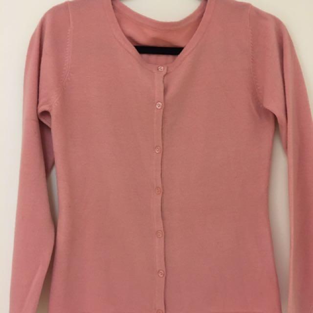 針織小外套粉色