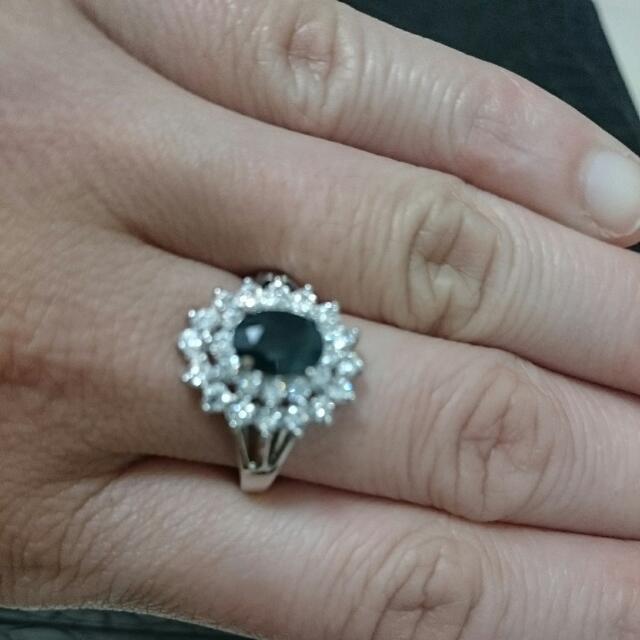 凱麒珠寶贈天然藍寶戒指