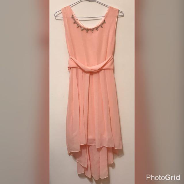 可愛 粉色 小洋裝