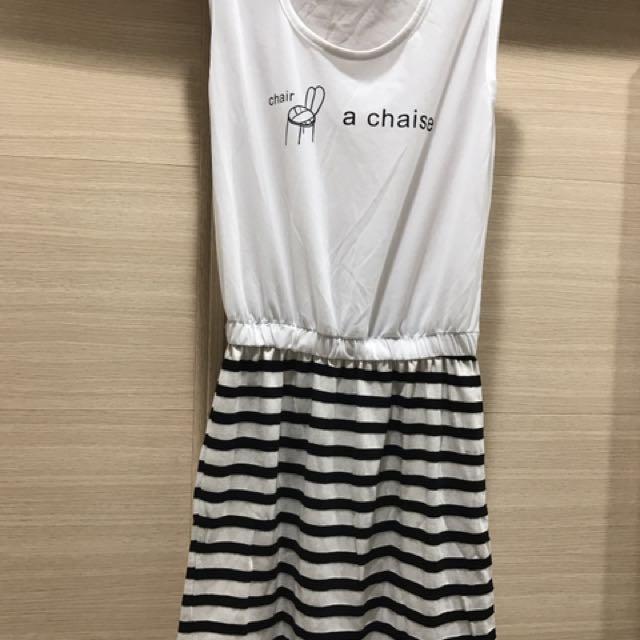 無袖休閒小洋裝#百元全新女裝