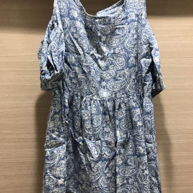 民族風圖騰小洋裝