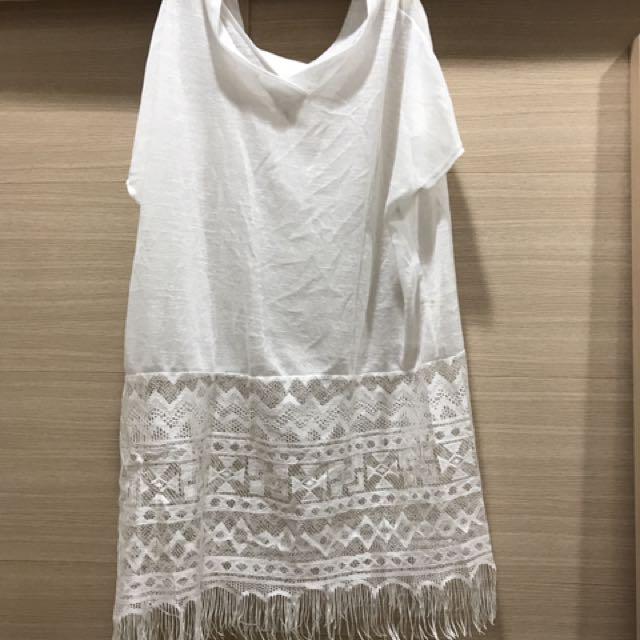 薄款針織流蘇長版衣#百元全新女裝