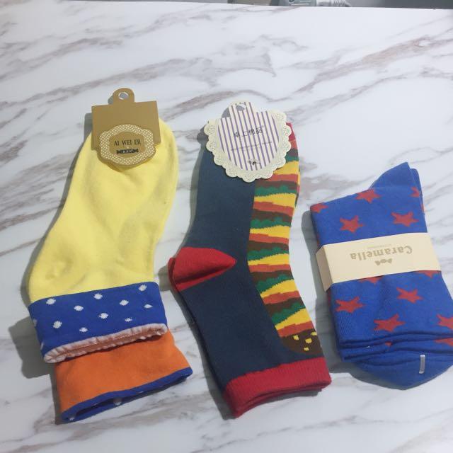 韓國襪 星星襪 漢堡襪