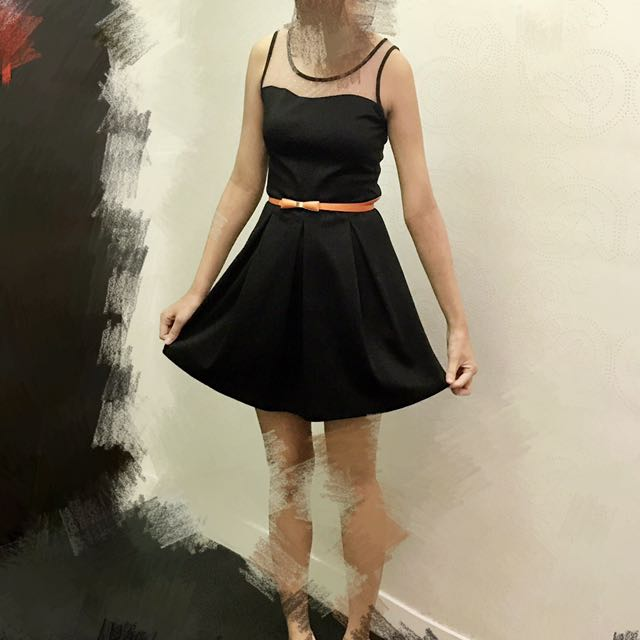 日本洋裝 小禮服 付腰帶