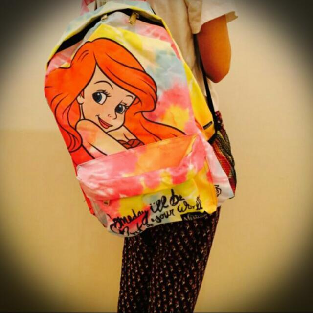小美人魚 愛麗兒 迪士尼 雙肩 後背包
