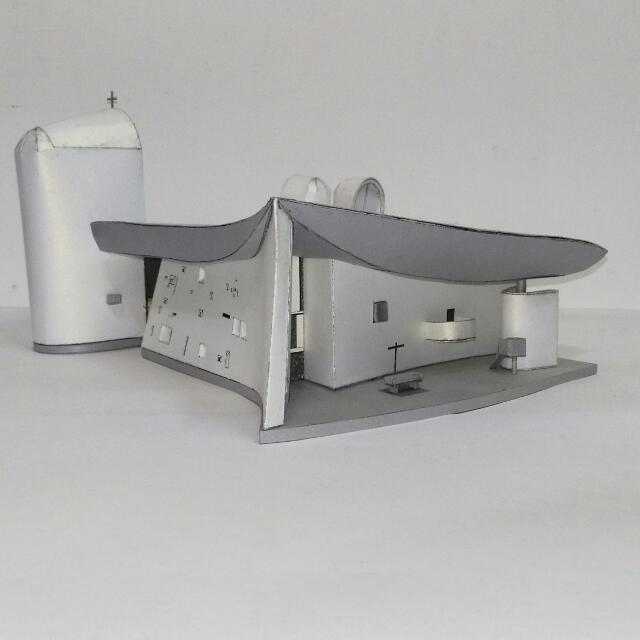 廊香教堂紙模型 Ronchamp