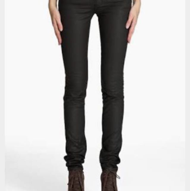 Acne Kex Pleather Black Jeans