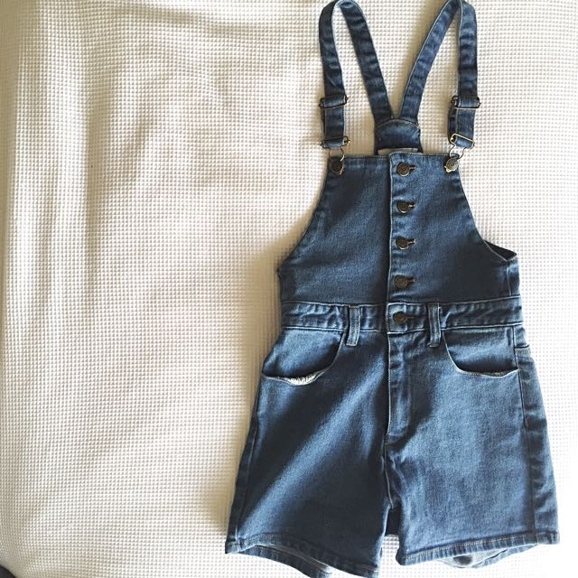 Afends Short Overalls Size 6 XS