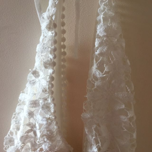 All White Lace Playsuit