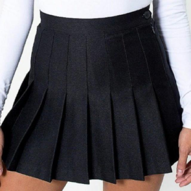 American Apparel Black Tennis Skirt