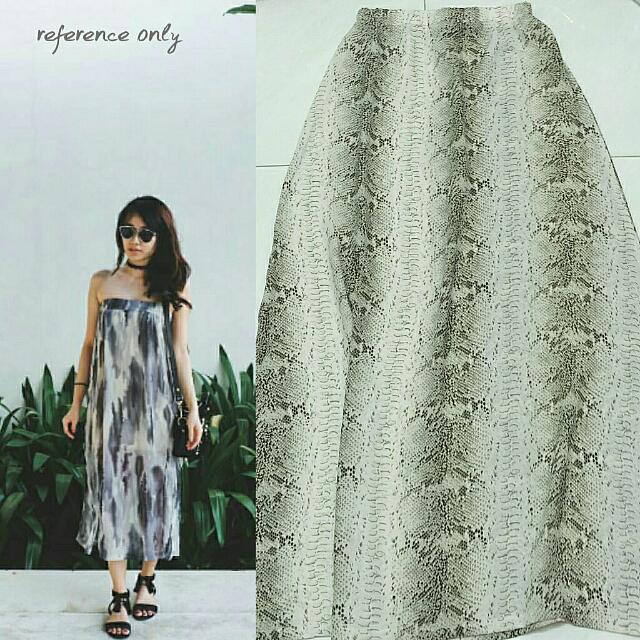 Animal Print Maxi Skirt (Bisa Jadi Tube Dress)