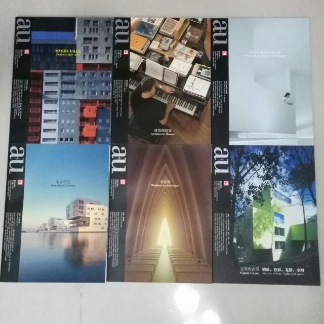 a+u 建築與都市雜誌(11~16集),中文版雜誌,1本350元
