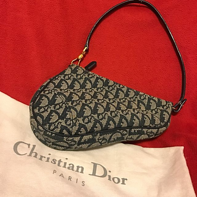 8a9fafd09a1 Authentic Christian Dior Saddle Bag, Luxury, Bags & Wallets on Carousell