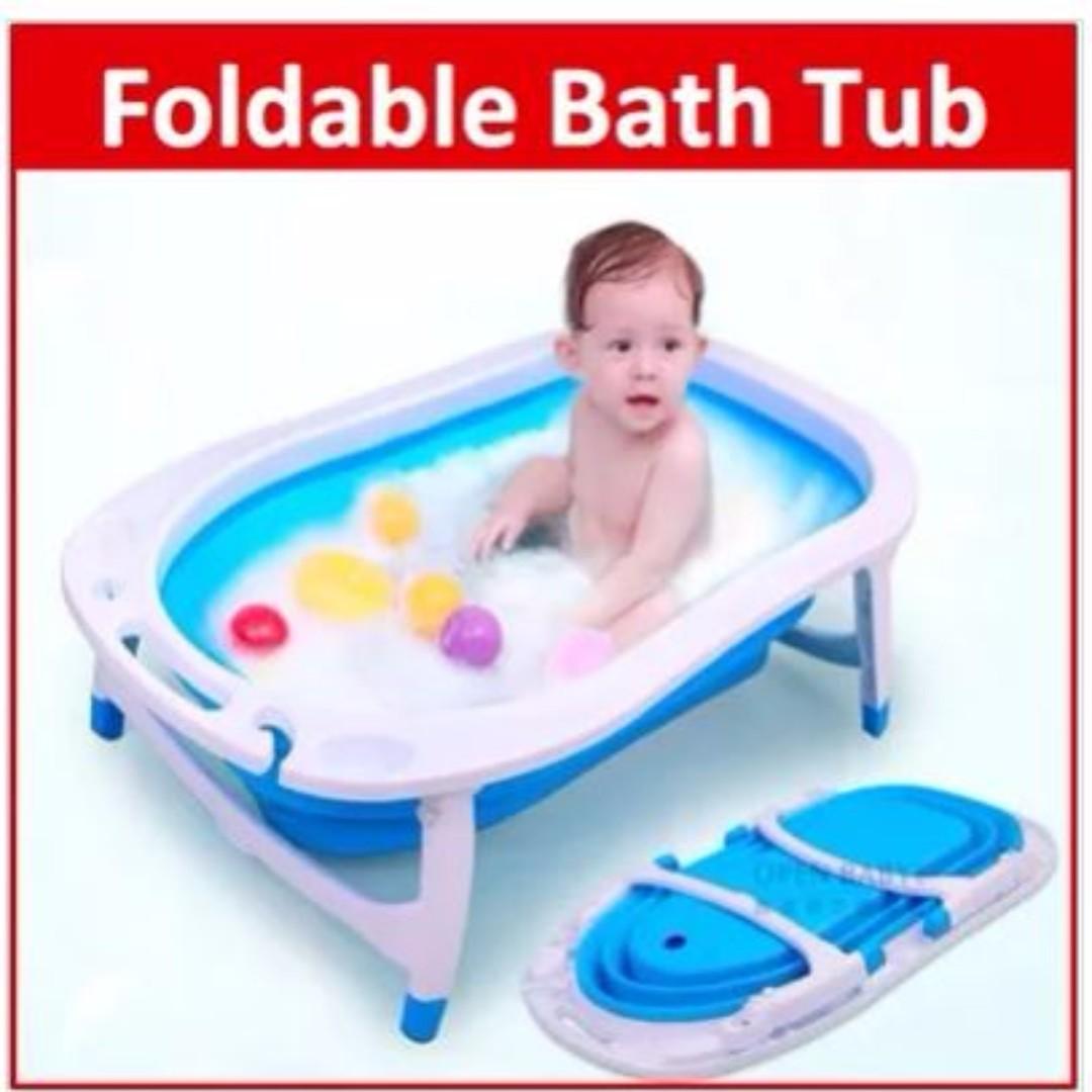 Baby foldable Bath Tub - Infant Toiletries Portable Newborn movable ...